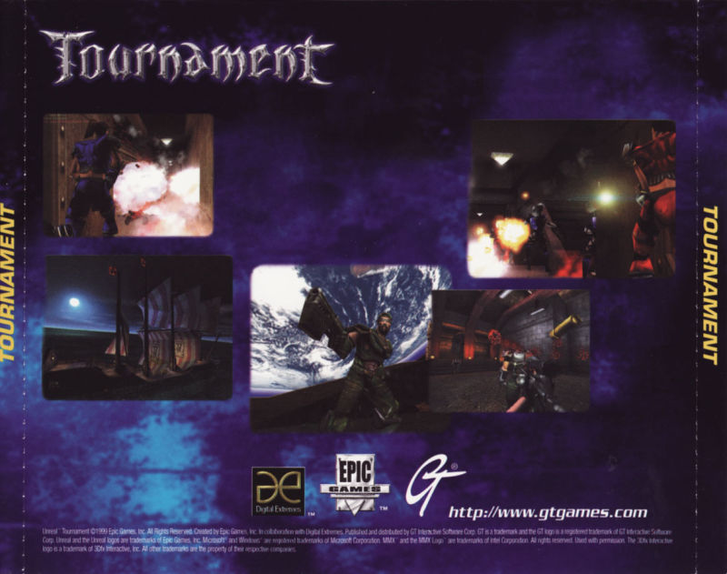 Unreal Tournament Windows Other Jewel Case - Back