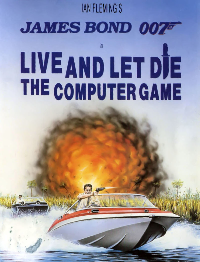 Ian Fleming's James Bond 007 in Live and Let Die: The Computer Game Commodore 64 Front Cover