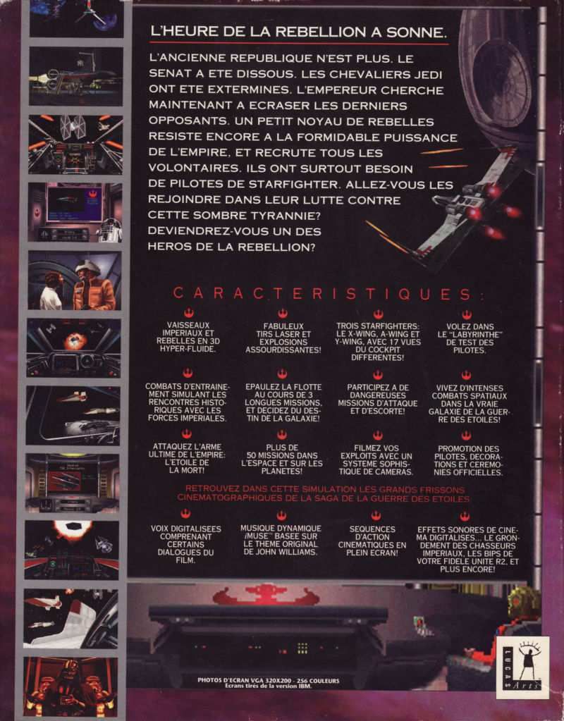 Star Wars: X-Wing DOS Back Cover