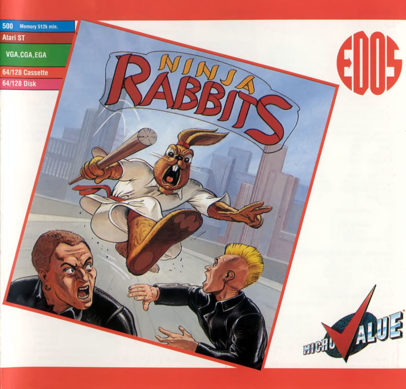 Ninja Rabbits Commodore 64 Front Cover