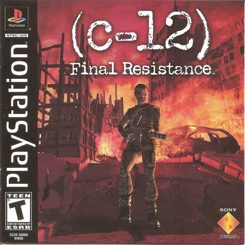 C-12: Final Resistance PlayStation Front Cover