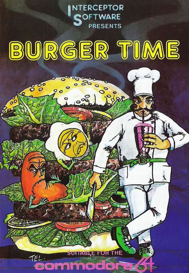 BurgerTime Commodore 64 Front Cover