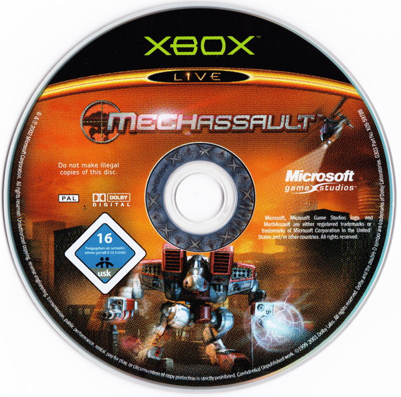 MechAssault Xbox Media