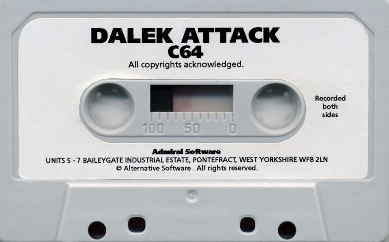 Dalek Attack Commodore 64 Media