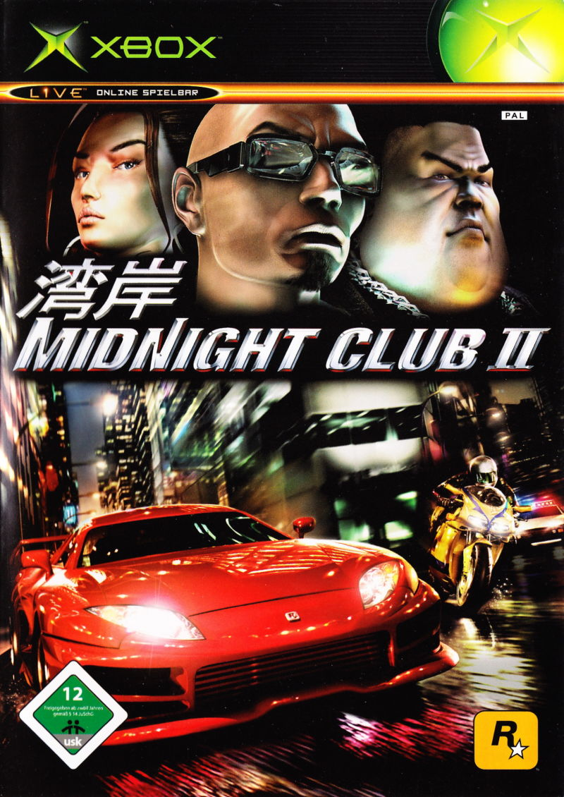 Midnight Club II Xbox Front Cover