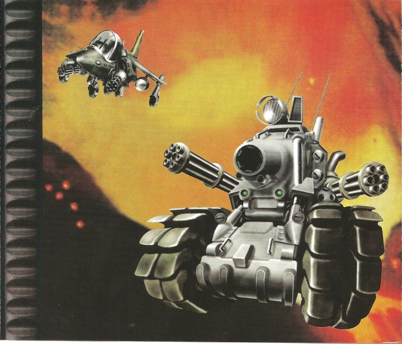 Metal Slug X PlayStation Inside Cover