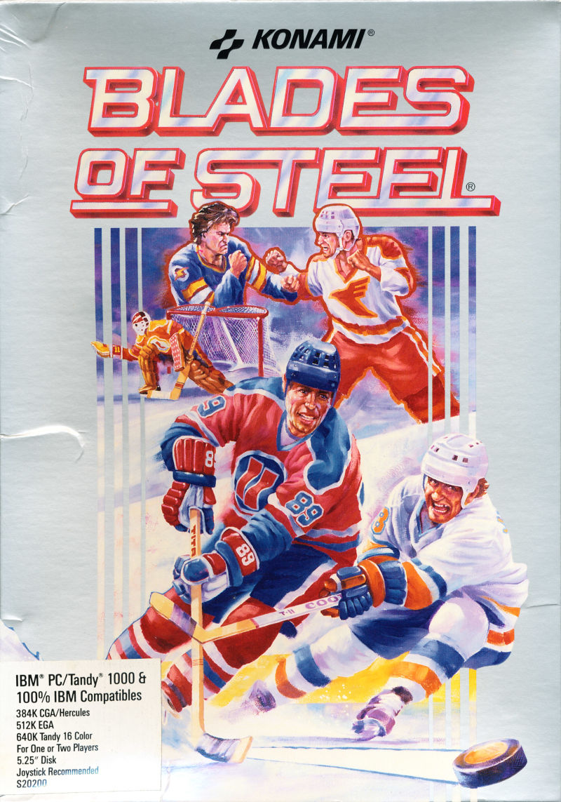 Blades of Steel DOS Front Cover