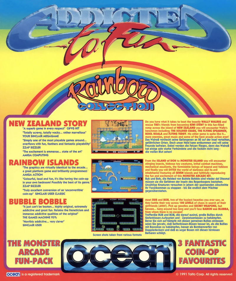 Addicted to Fun: Rainbow Collection Commodore 64 Back Cover