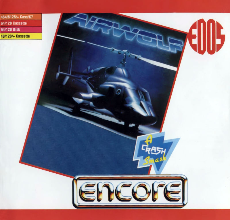 Airwolf Commodore 64 Front Cover