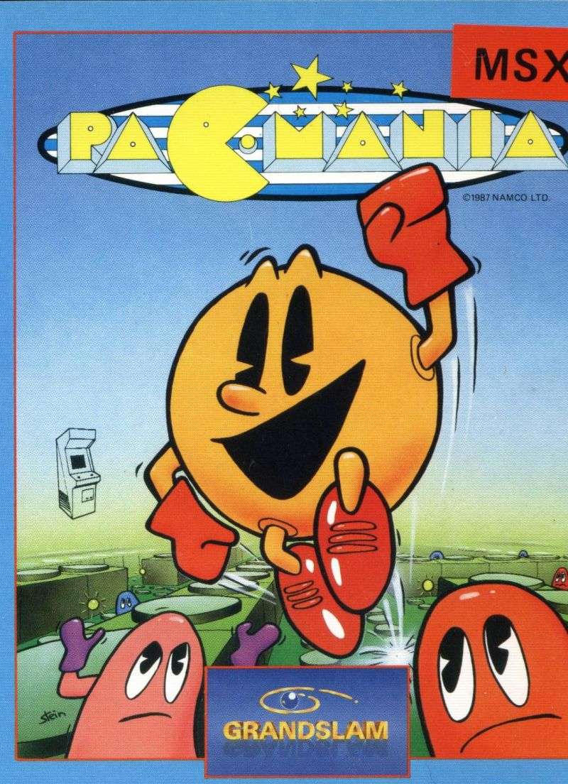 Pac-Mania MSX Front Cover
