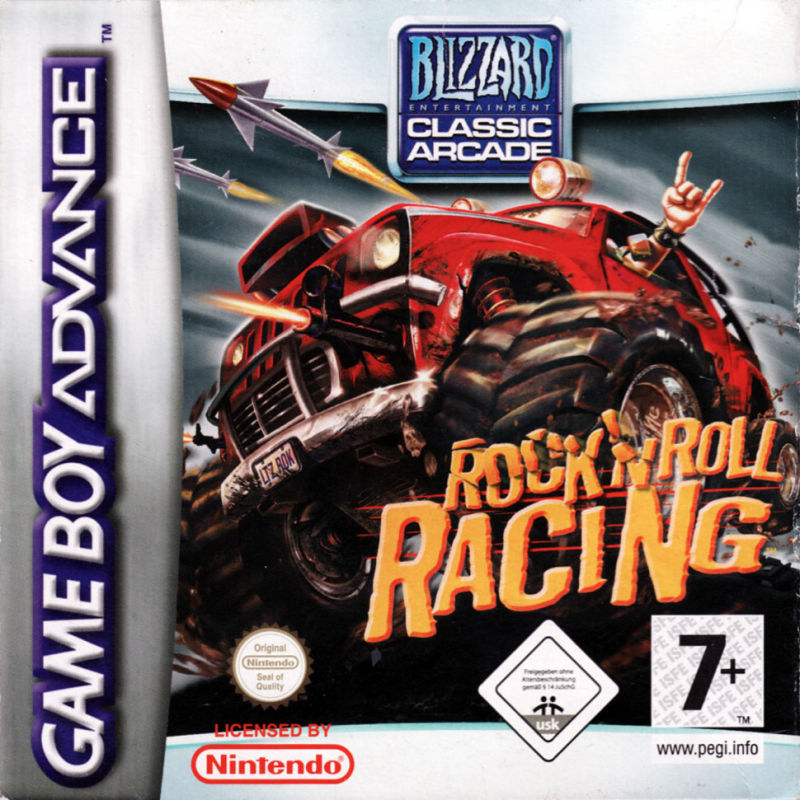 Rock 'n Roll Racing Game Boy Advance Front Cover