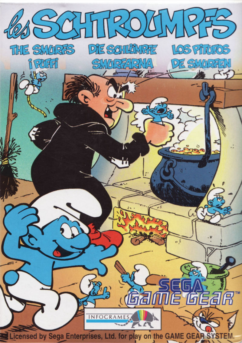 The Smurfs Game Gear Front Cover