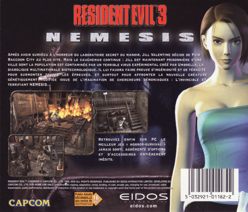 Resident Evil 3: Nemesis Windows Other Jewel Case- Back