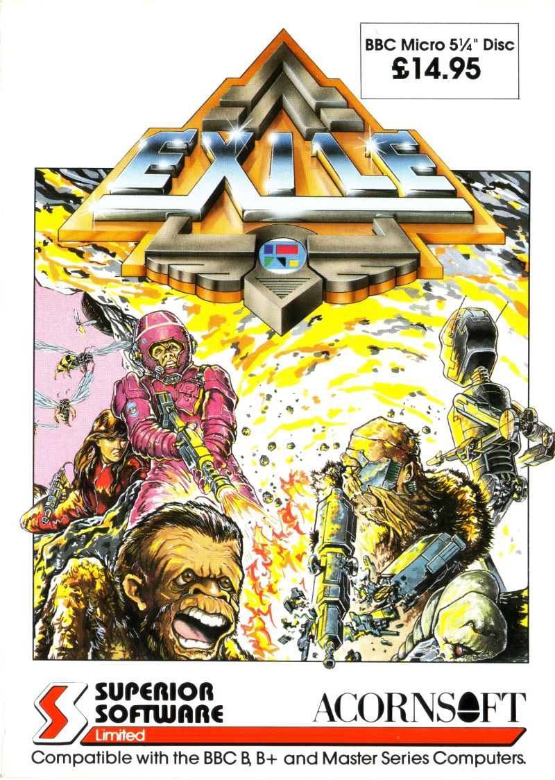 Exile BBC Micro Front Cover