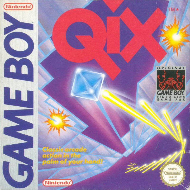 QIX Game Boy Front Cover