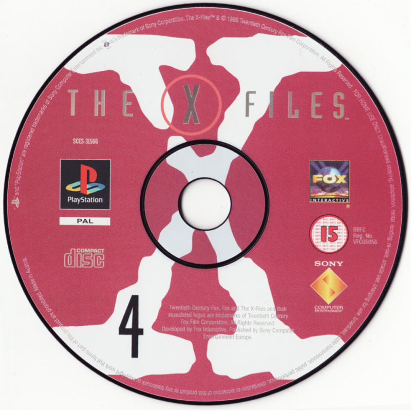 The X-Files Game PlayStation Media Disc 4