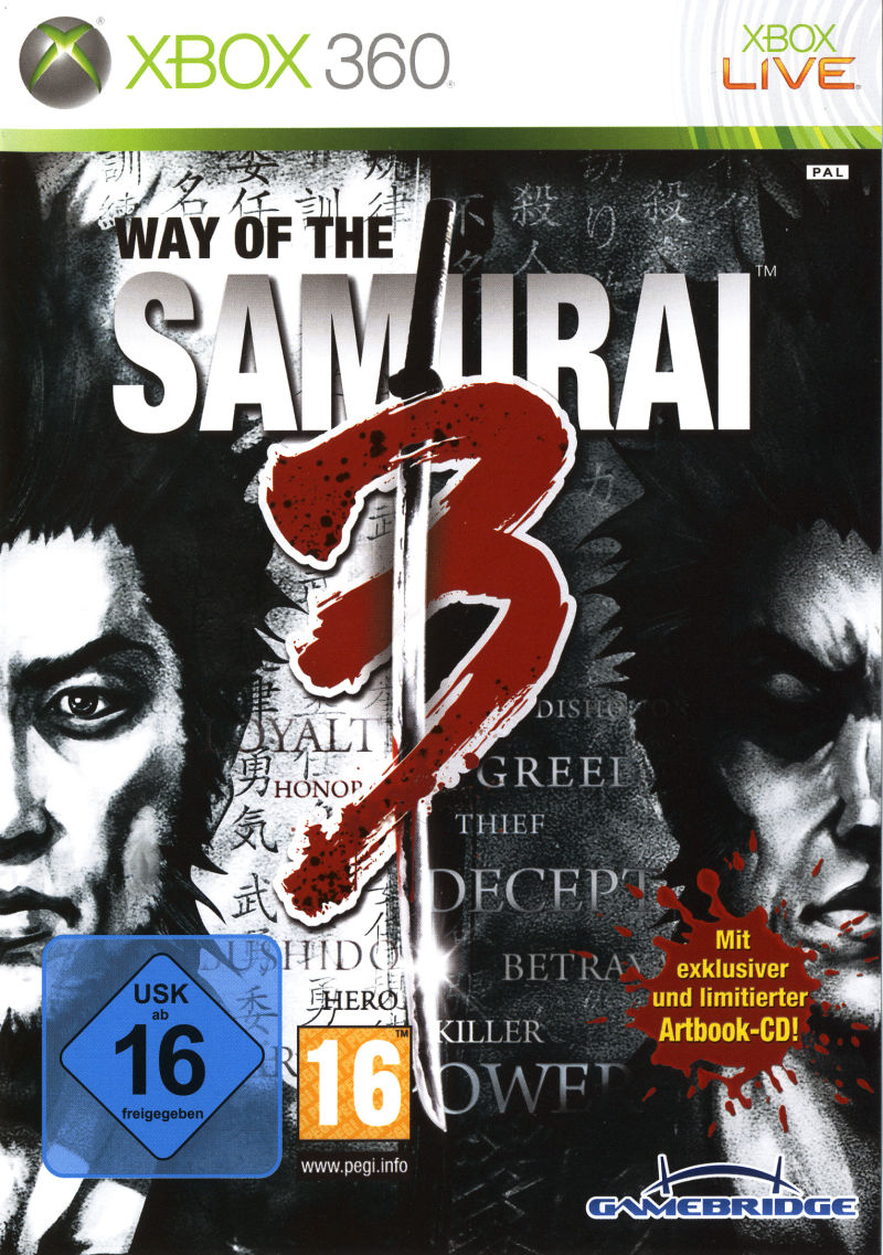 Way of the Samurai 3 Xbox 360 Front Cover