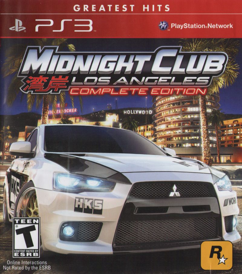 Midnight Club: Los Angeles - Complete Edition PlayStation 3 Front Cover