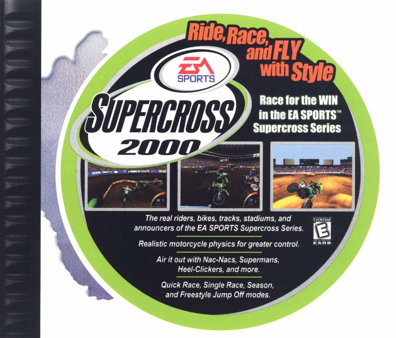 Sled Storm PlayStation Inside Cover Inset