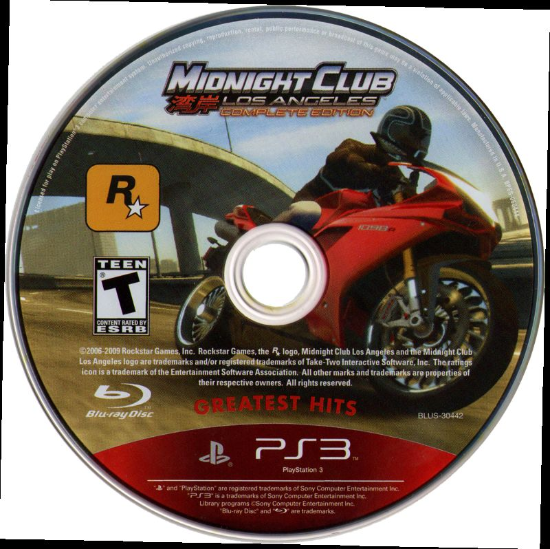 Midnight Club: Los Angeles (Complete Edition) PlayStation 3 Media
