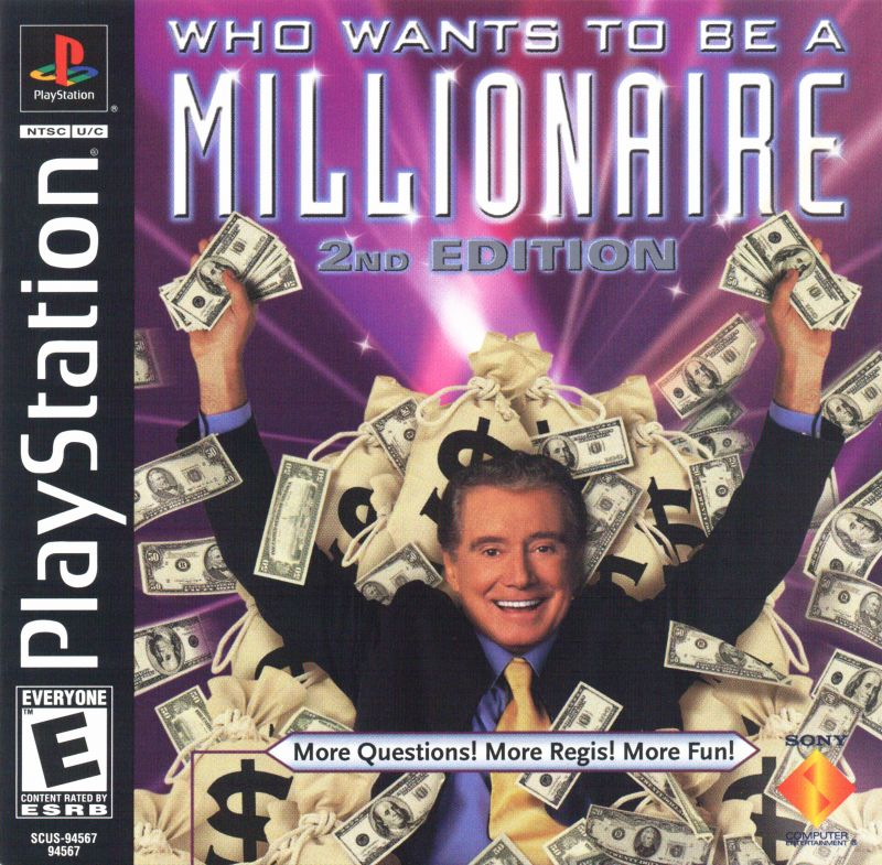 Who Wants to Be a Millionaire: 2nd Edition PlayStation Front Cover