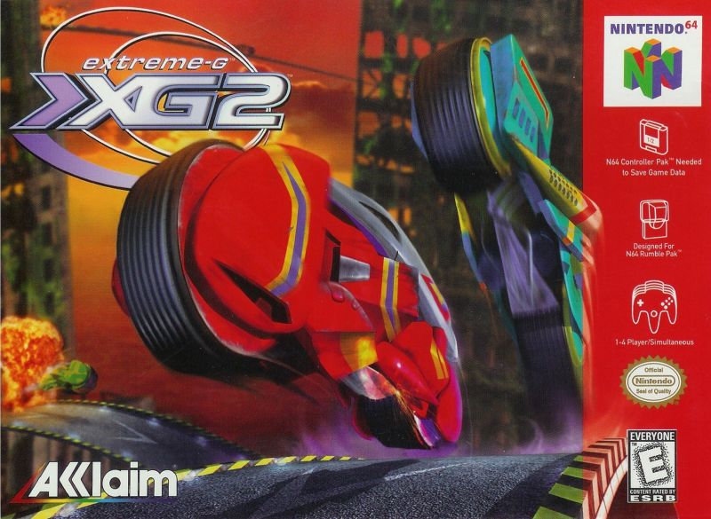 Extreme-G: XG2 Nintendo 64 Front Cover