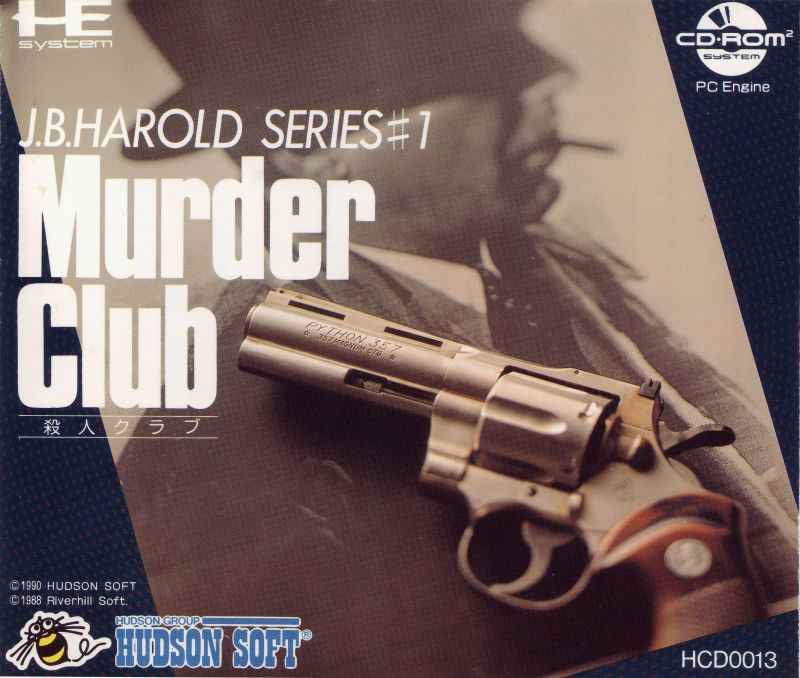 Murder Club TurboGrafx CD Front Cover