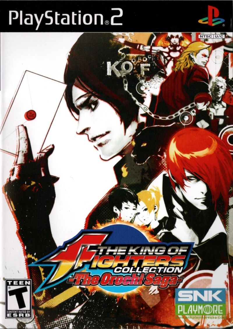 The King of Fighters Collection: The Orochi Saga PlayStation 2 Front Cover