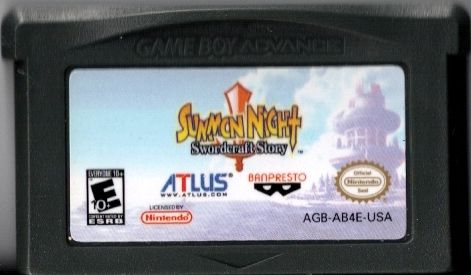 Summon Night: Swordcraft Story Game Boy Advance Media