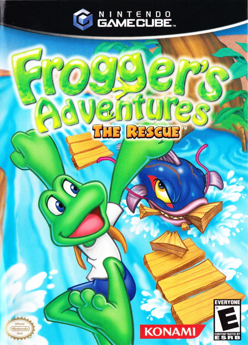 Frogger's Adventures: The Rescue GameCube Front Cover
