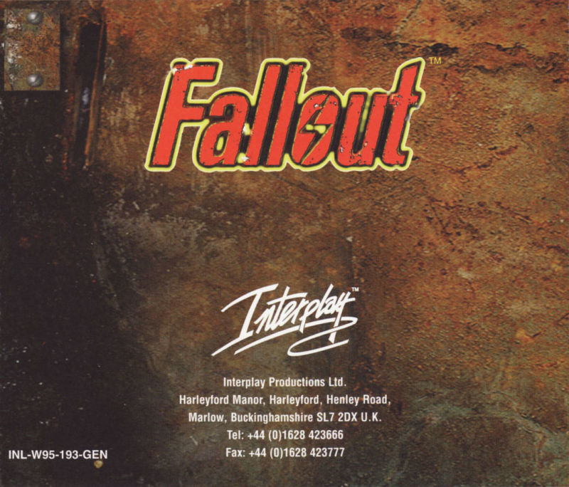 Fallout DOS Other Jewel Case - Back