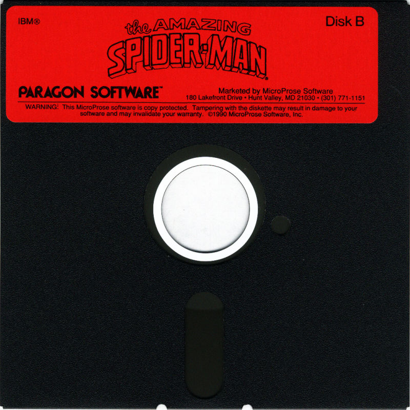The Amazing Spider-Man DOS Media Disk 2/2
