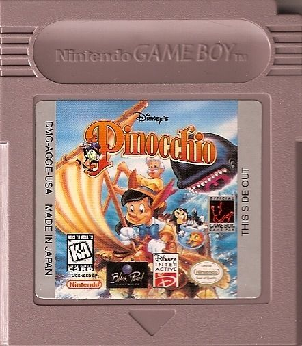 Pinocchio Game Boy Media