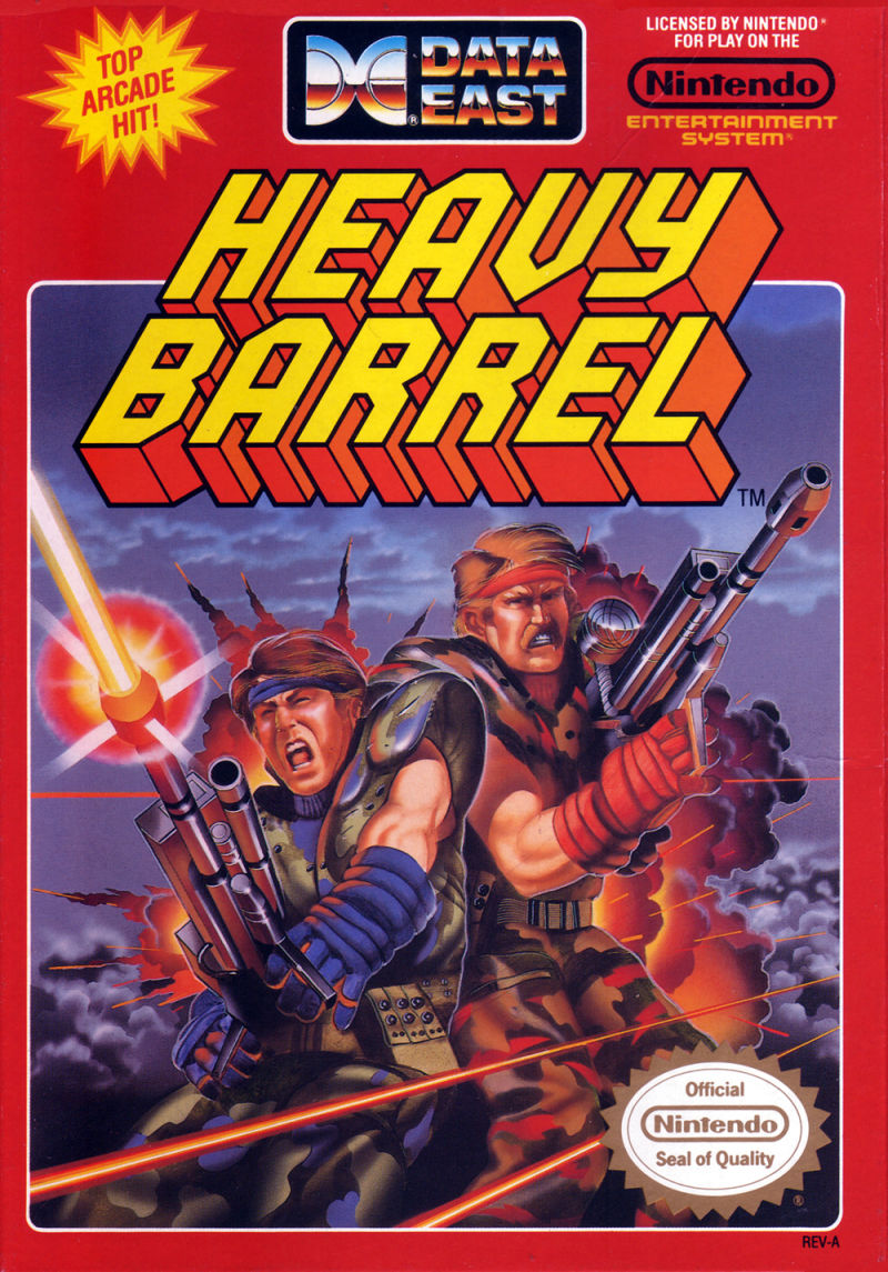 Heavy Barrel NES Front Cover