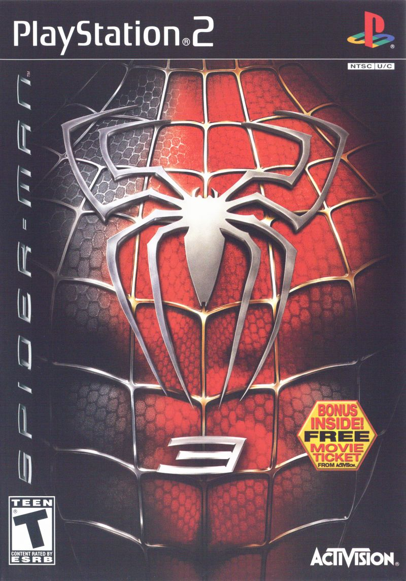 Spider-Man 3 PlayStation 2 Front Cover