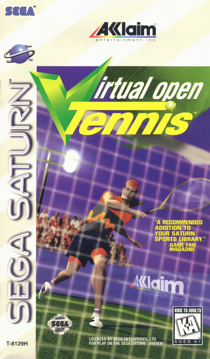 Virtual Open Tennis SEGA Saturn Front Cover