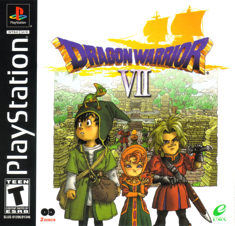 Dragon Warrior VII PlayStation Front Cover