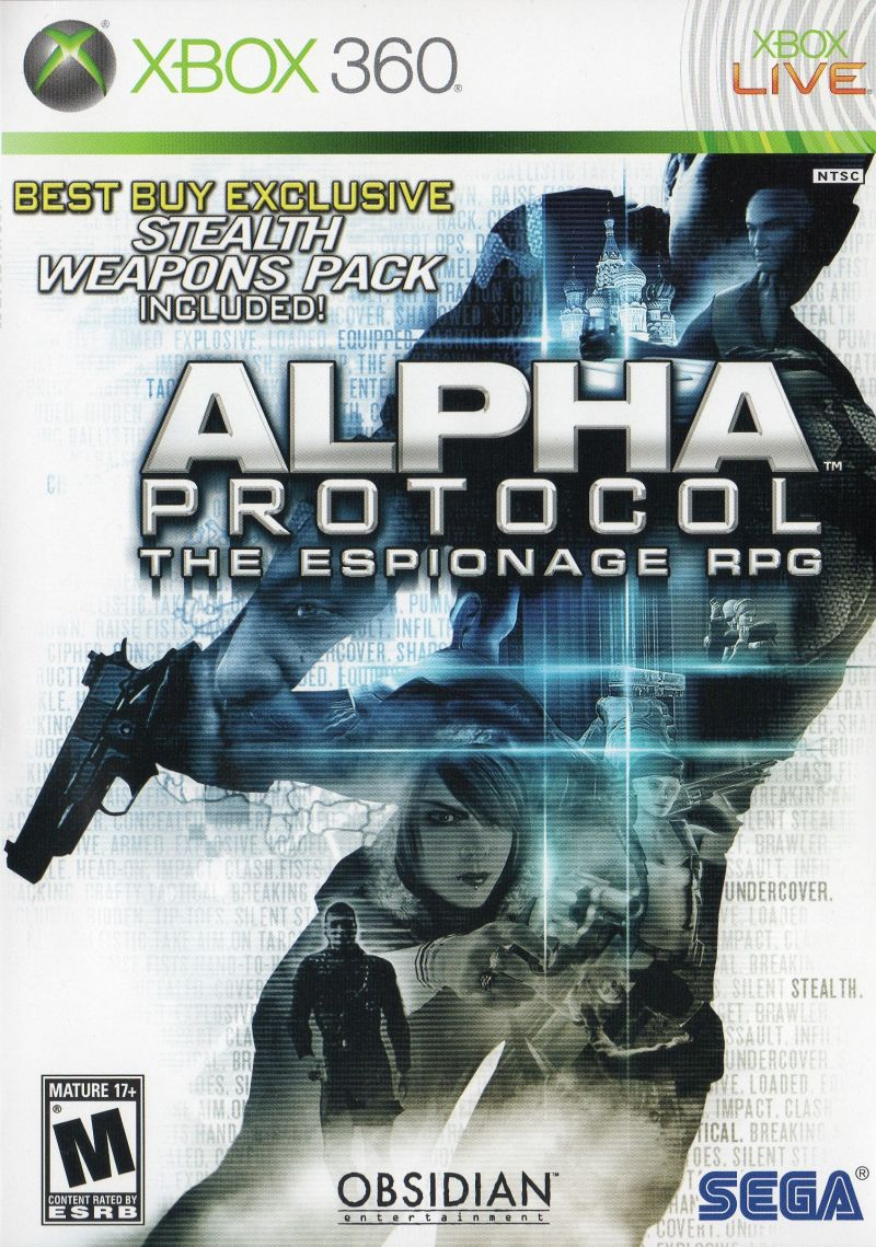 Alpha Protocol Xbox 360 Front Cover