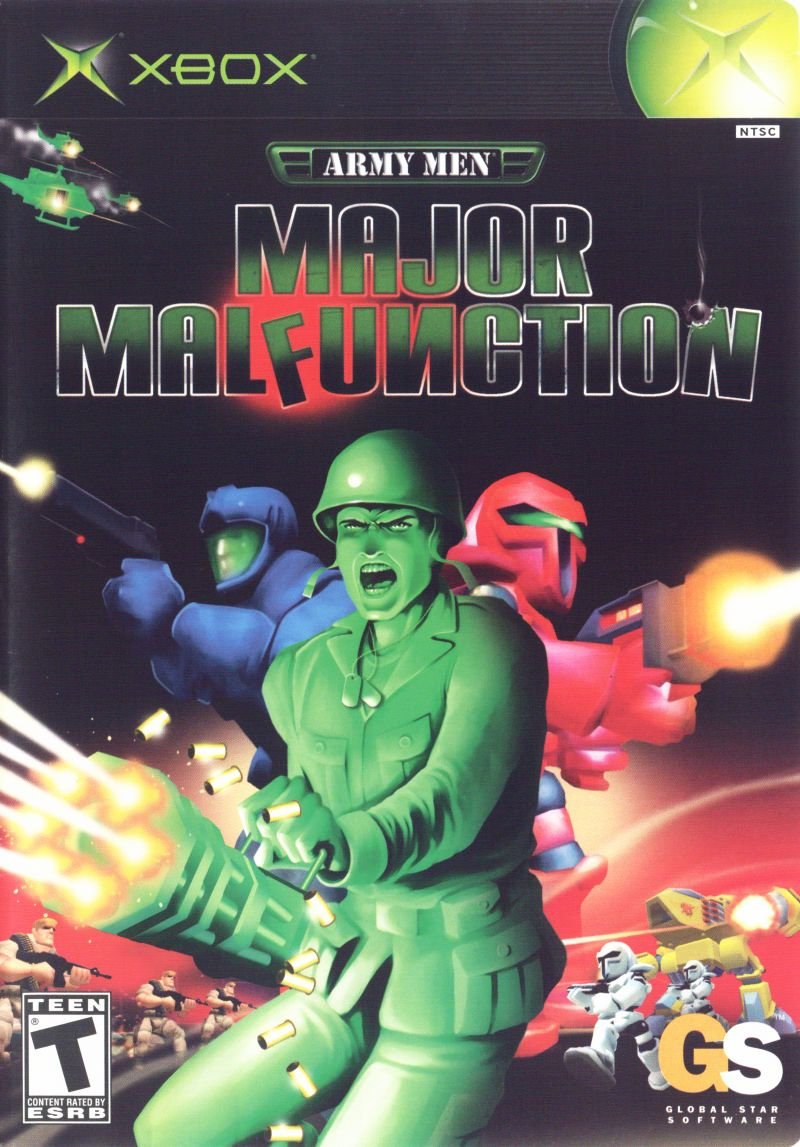 Army Men: Major Malfunction Xbox Front Cover