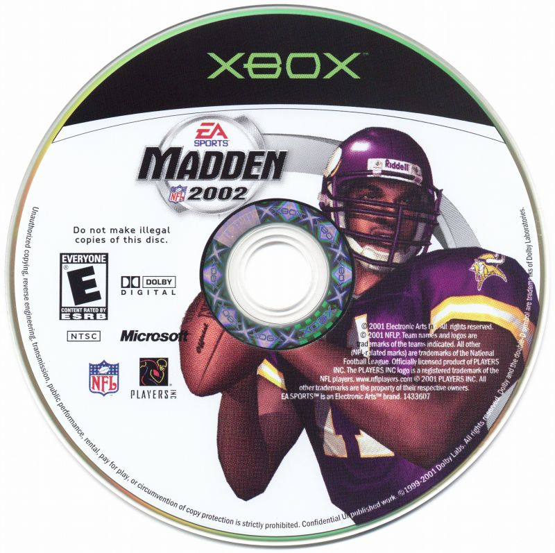Madden NFL 2002 Xbox Media