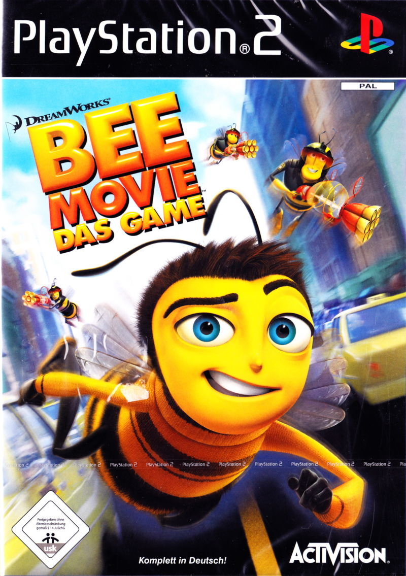 Bee Movie Game (2007) PlayStation 2 box cover art - MobyGames