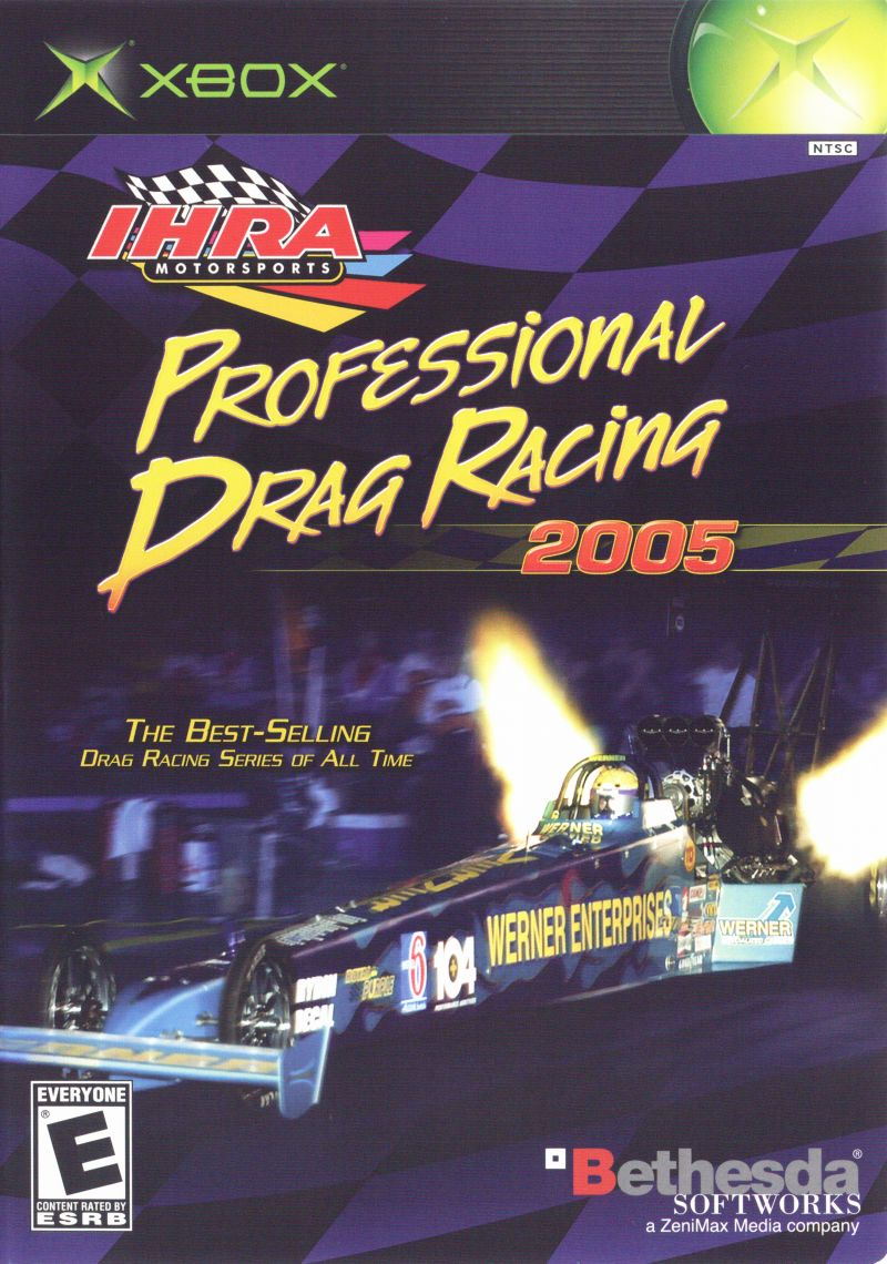 IHRA Professional Drag Racing 2005 Xbox Front Cover