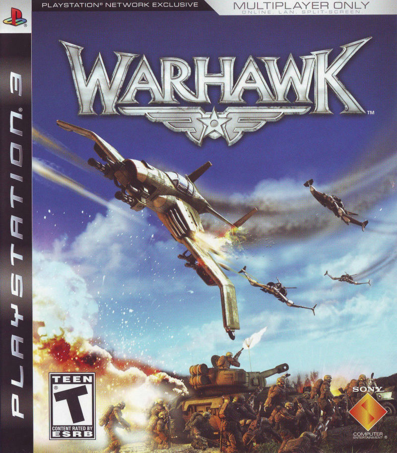 Warhawk PlayStation 3 Front Cover