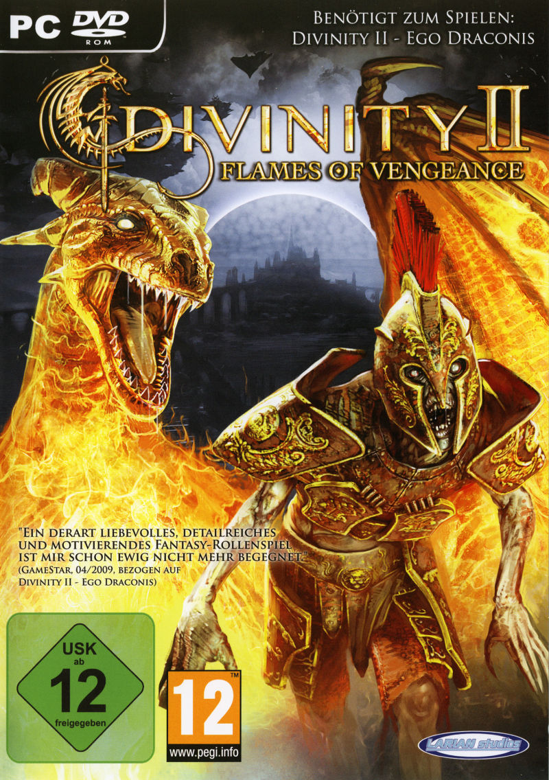 Divinity II: Flames of Vengeance Windows Front Cover
