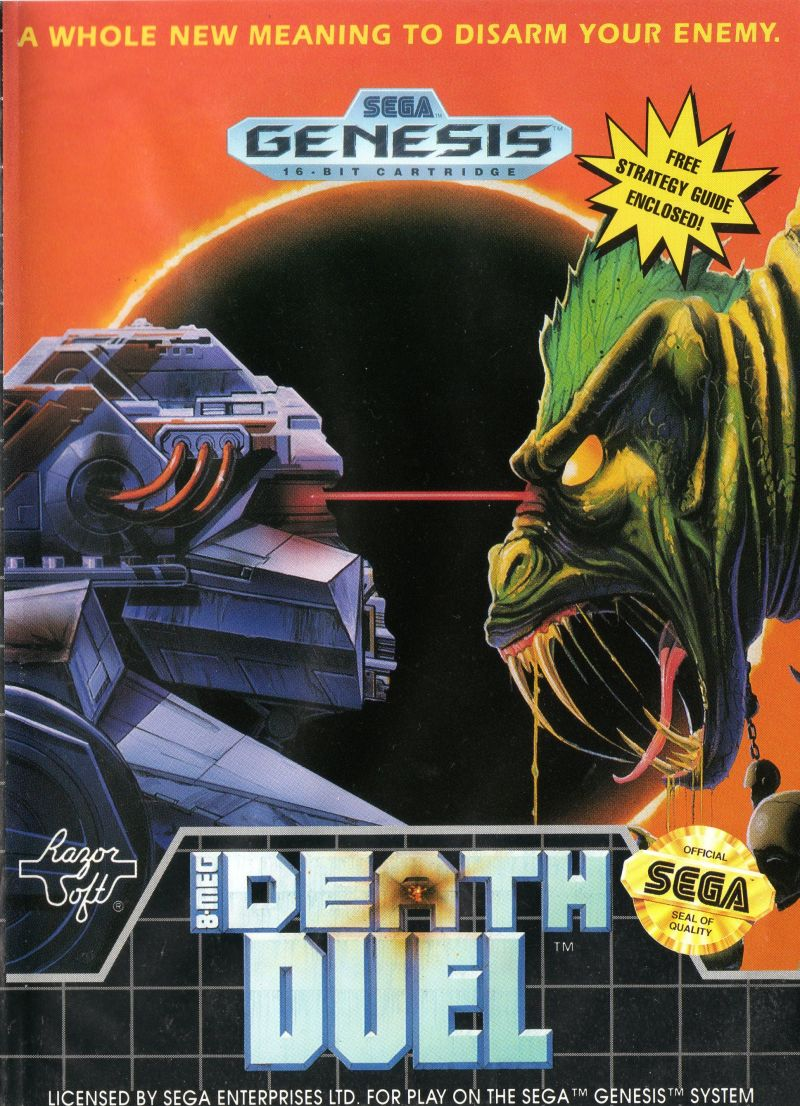 Death Duel Genesis Front Cover