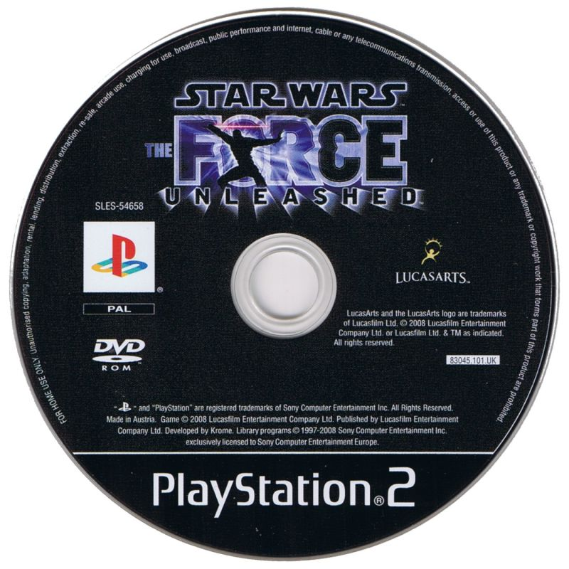 Star Wars: The Force Unleashed PlayStation 2 Media
