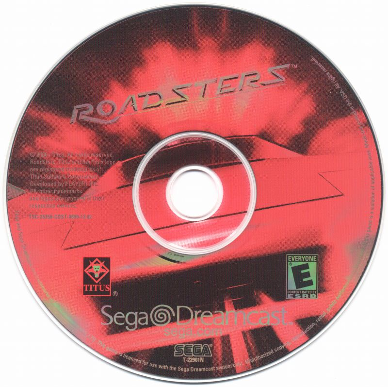 Roadsters Dreamcast Media
