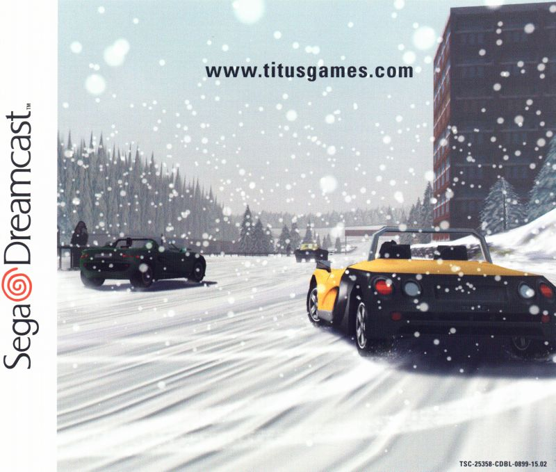 Roadsters Dreamcast Inside Cover