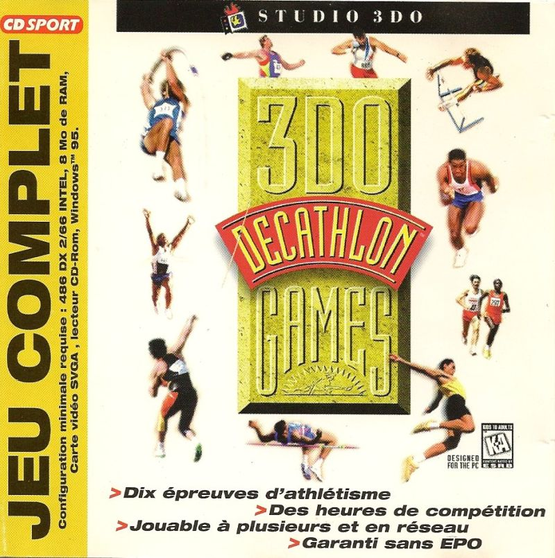 3DO Games: Decathlon Windows Front Cover