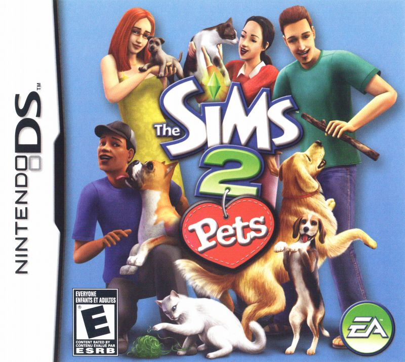 The Sims 2: Pets Nintendo DS Front Cover